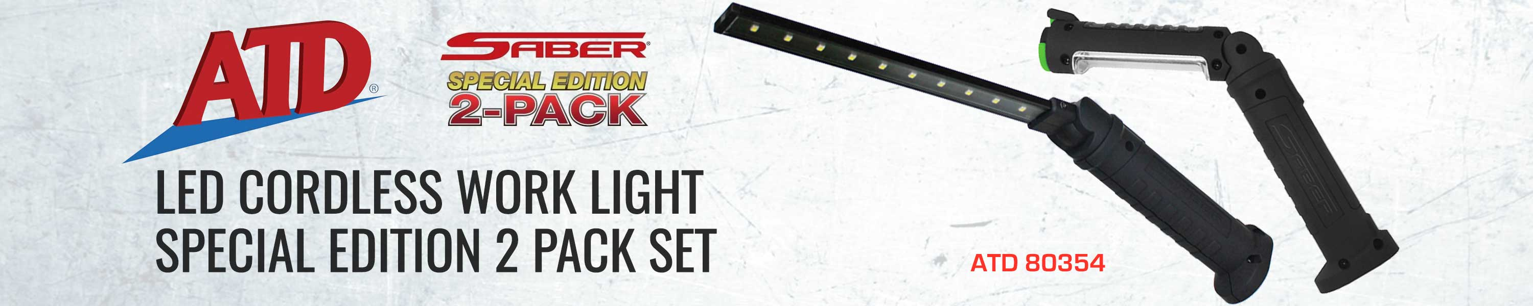 ATD Tools 80354 LED Cordless Work Light Special Edition 2 Pack Set