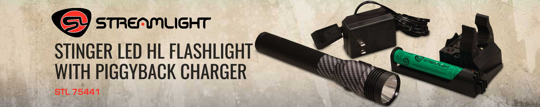 Streamlight 75441 Stinger LED HL Flashlight with Piggyback Charger